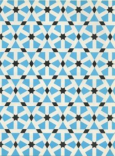 Pattern in Islamic Art -stone paving; Mosque of Sultan Hassan; Cairo, Egypt: