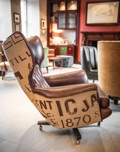 Irish Whiskey Academy Home for Irish Distillers, Pernod Ricard: Furniture with hand printed upholstery