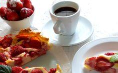 Jahodový koláč z listového těsta