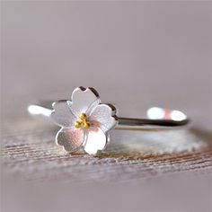 Stylish Handmade Sakura Dainty Women Ring in 925 Sterling Silver [100306] - $36.99 : jewelsin.com