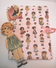 Playbook holder for fabric paper dolls Doll by KellettKreations