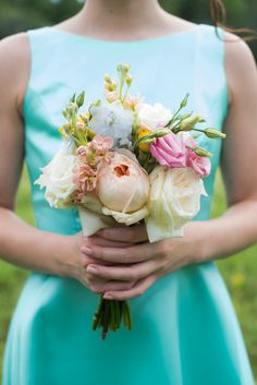 pastel pink and white bridesmiad #bouquet @weddingchicks