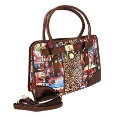 Leopard Obama Handbag Brown Leopard, Pink Leopard, Print Magazine, Michelle Obama, Tote Handbags, Vegan Leather, Shoulder Strap, Fashion Jewelry, Closure