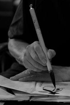 ogawasan:  Calligrapher 書家 on Flickr. © Ogawasan 小川/Bach.sacha.Photography.