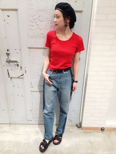 ともちんさんの「WEGO/リブタイトTシャツ(WEGO)」を使ったコーディネート