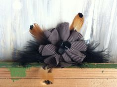 Accessory of Dark Brown and Tan Cotton Fabric by nickelbugdesigns, $6.25