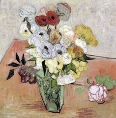Roses and Anemones - Vincent van Gogh 1890
