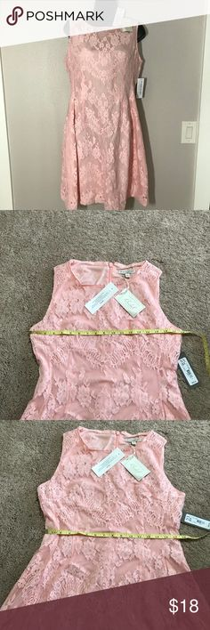 NWT Eva Mendes Maria dress pink lace s12 This is a brand new dress from the Eva mendes bridal collection.  Very flattering fit and flare style.  The color is a light  pink lace - fully lined - see close up pic.  This was my favorite style of dress, and I bought every color, but have lost too much weight to wear them now.   I offer a good bundle discount on 2 items or more and there are other Eva Mendes and limited styles available.  If you bundle, I will make you an offer. The Limited…
