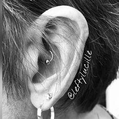 Another #daith #piercing I did recently for #migraine relief. #AlbanyNY #TroyNY #enjoytroy #TriedAndTrueTattooCo #Schenectady #HudsonValley #Catskills #518 #piercer #cartilagepiercing #daithpiercing #earpiercings #daithpiercing #migrainerelief