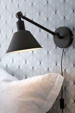 Ellos Home Vägglampa Oxford Small Svart, Vit - Vägglampor |          Ellos Mobile