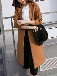 SHARE & Get it FREE   Lapel Single Breasted Long CoatFor Fashion Lovers only:80,000+ Items • New Arrivals Daily • Affordable Casual to Chic for Every Occasion Join Sammydress: Get YOUR $50 NOW!
