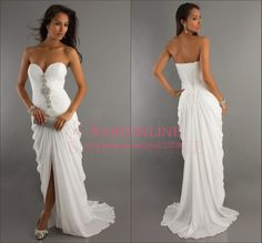 Sexy Sweetheart Beading High Low White Prom Dresses Long 2014 Vestido De Festa Formal Dress Party Evening Elegant $117.00 White Chiffon, Prom Dresses, Formal Dresses, Wedding Dresses, Party Dress, Sexy, Bridesmaid, Fashion Glamour, Ball Gowns
