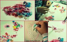 Textured Heart with Tissue Paper Pulp and Water Colours www.mommy-labs.com