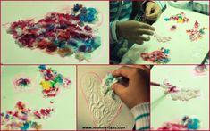 Tissue paper pulp art