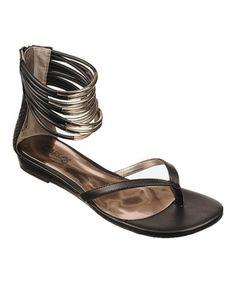Look what I found on #zulily! Black Tone Gladiator Sandal by Carlos by Carlos Santana #zulilyfinds