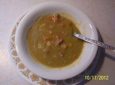 """""""SPLIT PEA SOUP""""  an  old """"MORMON TRAIL RECIPE"""" Short Recipes, My Recipes, Crockpot Recipes, Cooking Recipes, Favorite Recipes, Mormon Trail, Pork Hock, Stone Soup, Recipes"""