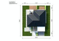 Sytuacja CPT HomeKONCEPT-31 CE Modern Family House, Modern House Design, House Plans Mansion, Design Case, Willis Tower, My House, Pergola, Mansions, Architecture