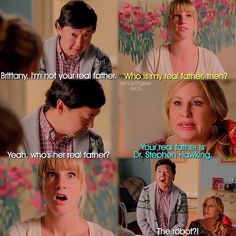 """#Glee 6x06 """"What the World Needs Now"""" - Brittany and her parents"""