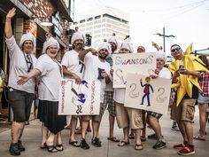 The Dansby Swan-son fan group! Fan Signs, Atlanta Braves, Swan, Baseball, Jackets, Group, Fashion, Baseball Promposals, Down Jackets