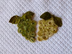 Vintage Magnet Chenille Grape Bunch Set of 2 Refrigerator Magnets Home Decor Wine Theme Vintage Pipe Cleaners Sequins Felt Magnets on Etsy, $10.00
