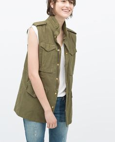 VINTAGE-STYLE PARKA VEST-View all-Jackets-WOMAN-SALE | ZARA United States