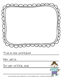 Create a class book about your principal for bosses week.  {free download}