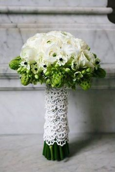 ornithogalum, so chic, i like the lace wrap too