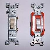 light switch diagram (power into light) at www