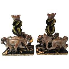 Year of the Monkey Candlesticks by Ardmore from South Africa
