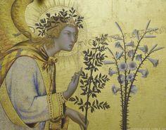 Simone Martini  (Siena, 1284 circa – Avignone, 1344) Annunciation (detail)   #TuscanyAgriturismoGiratola