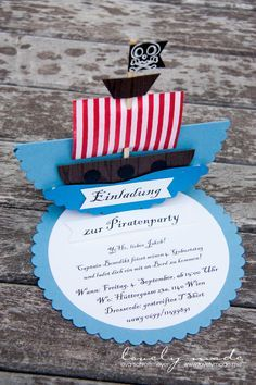 Einladung Piraten Kindergeburtstag Birthday Gift Cards, Birthday Party Invitations, Happy Birthday Kids, Pirate Kids, Frozen Party, Elegant Invitations, Diy For Kids, Party Time, Creations