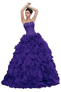 1787802f17e126 Dora Bridal Strapless Ball Gown Quinceanera Prom Dresses ... http   www
