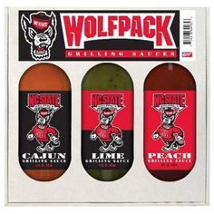 Hot Sauce Harrys 4935 NC STATE Wolfpack Grilling Gift Set 3- 12oz $124.20