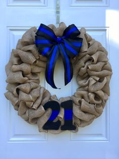 Police Badge Number Wreath Law Enforcement by CharmingComforts