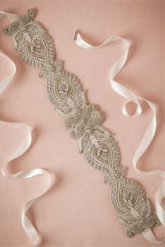 THIS sash w Ines dress - Meadow Sash from BHLDN