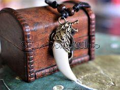 Viking Fenriswolf remorque Wolf tête collier résine  bone