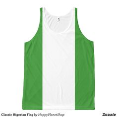 Classic Nigerian Flag All-Over Print Tank Top