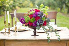 "Orchard Harvest Wedding Styled Shoot | Apple Creek Florist - Woodstock, IL | ""autumn floral centerpiece"""
