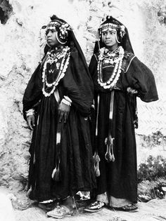 Africa   Two women of a Ahwash Dance group from the Anti Atlas during a national folklore festival in Marrakech. 1969   ©FM (Frits) Cowen