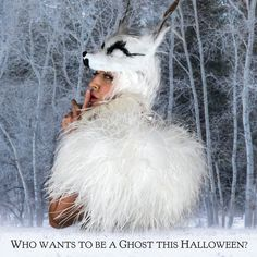 may have ended, but we are reviving favorite with these fun feather accessories for Halloween 👻🐺 White WolfMask, White Feather Wig, White Feather Choker, White Ostrich Feather Shrug . Unique Halloween Costumes, Halloween Looks, Diy Costumes, Feather Mask, Feather Skirt, Realistic Wolf Mask, Wolf Costume, Dire Wolf, Animal Costumes