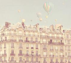 Paris Hot Air Balloons French Nursery Decor by gypsyfables French Nursery Decor, Paris Nursery, Girl Nursery, Nursery Ideas, Cream Nursery, Whimsical Nursery, Nursery Inspiration, Girls Bedroom, Style Inspiration