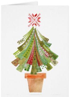 Christmas Tree Card / Poster / Favor bag - Paloma Navio