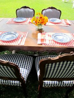 great gingham chairs