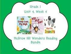 This first grade interactive journal is aligned to Common Core and to the McGraw Hill Wonders series for Unit 4-Week 4. These journal entries allow students to be engaged while reading the text.  These can easily be folded to fit in the students composition books or journals.