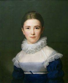 WAYNE BACKGROUND  Friedrich Carl Gröger, portrait of Lina Gröger, his stepdaughter, 1802