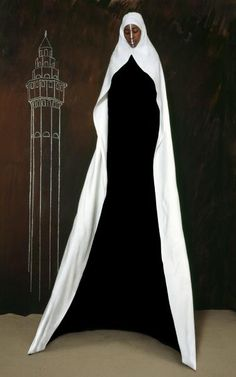 Mother Minaret, 2010, Lambda print, 200x125 cm. A very tall, veiled figure resembling a minaret, which I actually designed as the original b...