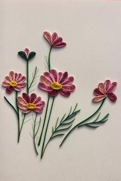 """Quilling galore! A beautiful card (handmade in Vietnam) with easy, lovely colors. Zoom in and look it over! These cards are so impressive and have a """"wow"""" factor that they will become a treasured keep"""