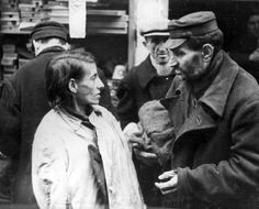Warsaw, Poland, People in a ghetto street.
