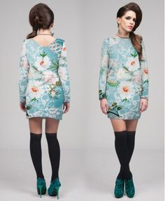 """PUNK"" FLOWER PRINT SIXTIES DRESS"