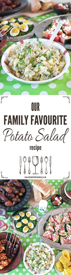 Our family favourite potato salad recipe - always served at picnics and BBQs! This time I've made it with a free-from May-O from Chippa, the UK's only free-from condiment range.